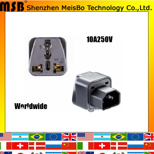 Professional 10A 250V ABS material Uk to Uk plug adaptor worldwide 500pcs/lot free shipping by Fedex(China (Mainland))