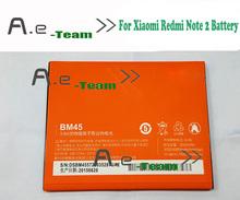Для Xiaomi Redmi Note 2 Батареи BM45 100% Оригинал 3020 мАч Батарея Резервного Копирования Для Xiaomi Redmi Note 2 Смартфон Бесплатная Доставка
