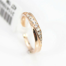 Fashion Crystal Ring 18K Rose Gold Plated Made with Genuine Austrian Crystals Full Sizes Wedding Ring For Men And Women ring