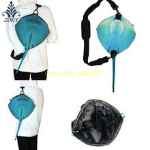 Manta Ray Fish Bag Colorful Ocean Fish Messenger Bag Creative 3D Fish Sling Bag