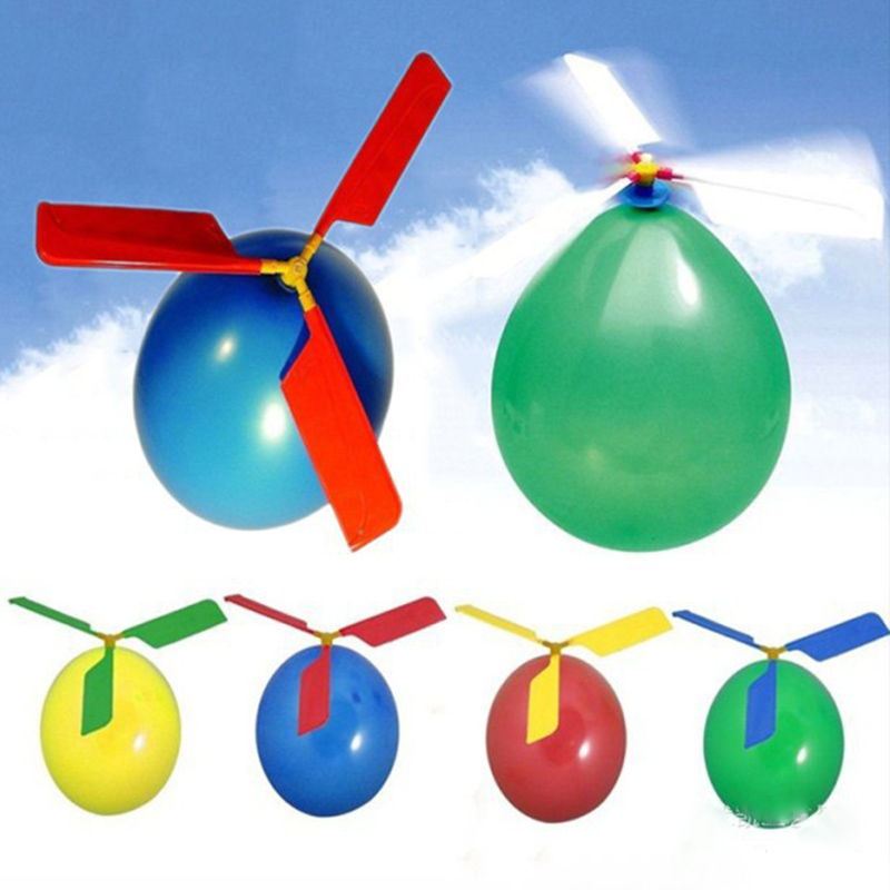 1 Set Classic Balloon Airplane Helicopter For Kids Children Flying Toy Gift Outdoors toys(China (Mainland))