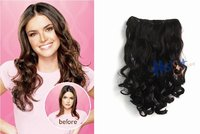 """16"""" Jessica Simpson Style, Clip in hair Extension one piece for full head long wavy curly hair extension 2 colors free shipping"""
