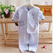 2016 New toddler baby Winter Babys Sleepwear Cotton Boys  Girls Clothing Children's Clothes Baby Sets Underwear kids pajama sets(China (Mainland))