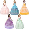 E-TING 3Set Handmade Doll Garments Mini Gown Informal Put on Summer time Skirt For Barbie Doll A