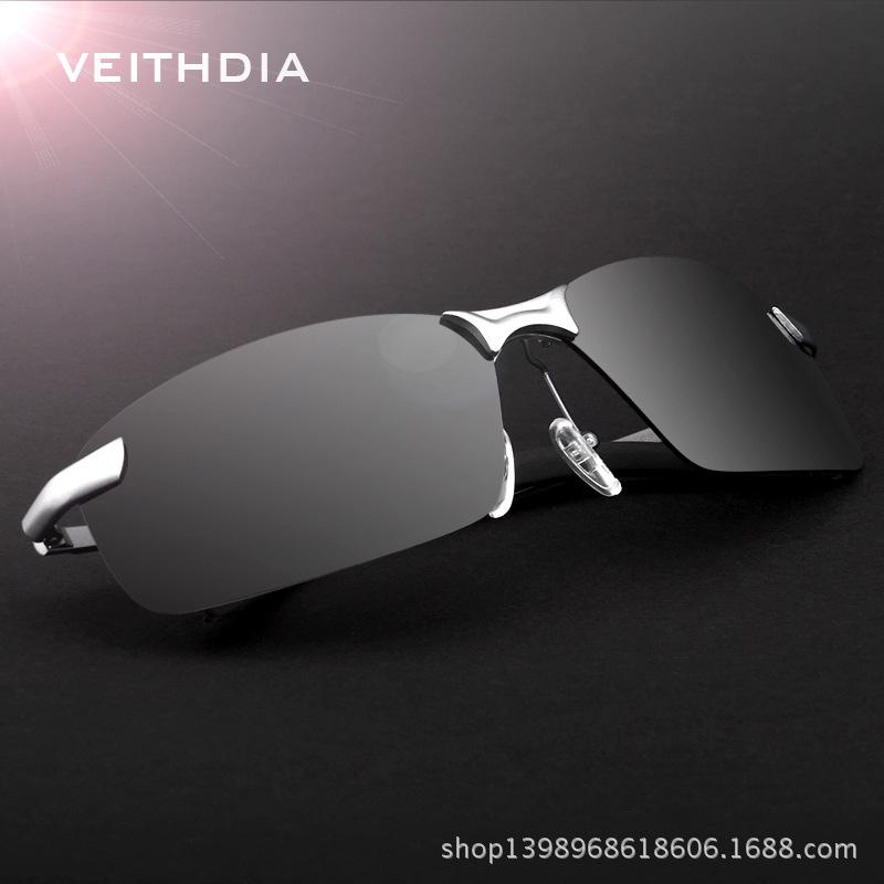 Brand Polarized Men's Sunglasses Rimless Sport Sun Glasses Driving Goggle Eyewear For Men oculos de sol masculino 3043(China (Mainland))