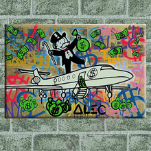 Alec Monopoly fly money Wall Decor Canvas Painting Wall Pictures For Living Room Home Decoration Arts Poster Print On Canvas(China (Mainland))