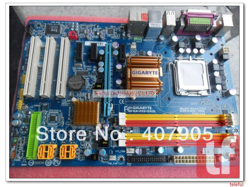 LGA 775 Motherboard for Gigabyte GA-EP35-DS3L P35 DDR2 PC(China (Mainland))