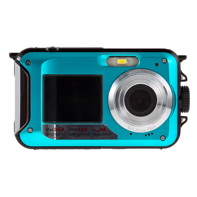 2.7 Inches Sport photograph Best Choice Duble Screen HD 24MP Waterproof Digital Video Camera 1080P DV 16x Digital Zoom L3EF(China (Mainland))