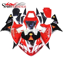 Buy Injection Fairings For Yamaha R1 02 03 YZF1000 2002 2003 ABS Motorcycle Fairing Kit Bodywork Cowling SIKA Santander Red Black for $484.49 in AliExpress store