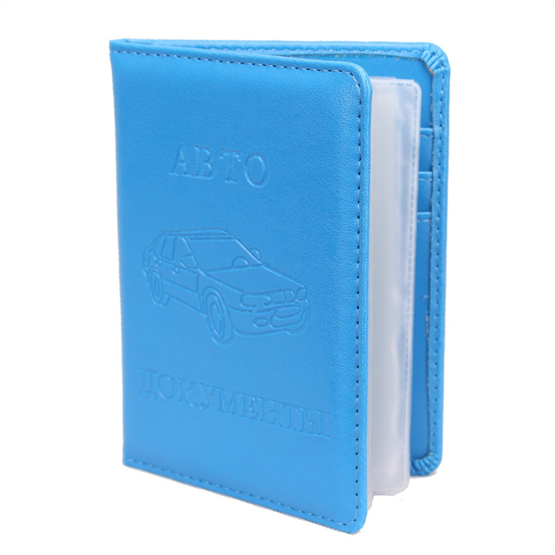 High Quality Russian Auto Driver License Bag PU Leather on Cover for Car Driving Documents Card Credit Holder Purse Wallet Case(China (Mainland))