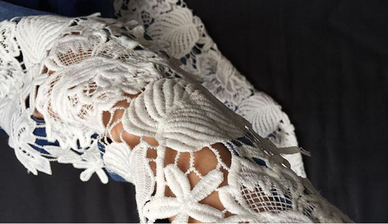 Скидки на 2016 Мода Кружева Джинсы Женские Mujer Сексуальная Выдалбливают Цветок крюк Жесткие Ноги Карандаш Брюки Тощий Плюс Размер Узкие Джинсы EG6298