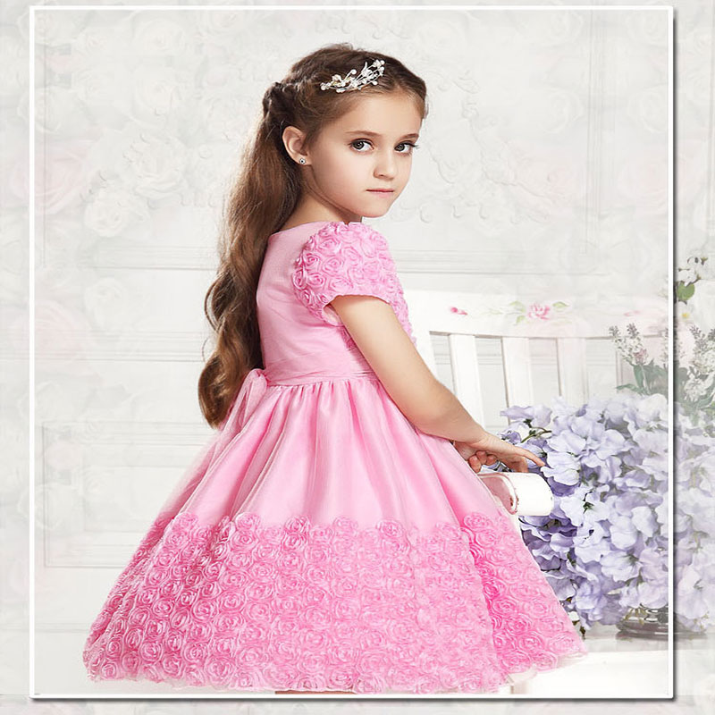 wholesale  girl party dress with bow,,girl dress,high-grade free shipping 5pcs/lot MY-09