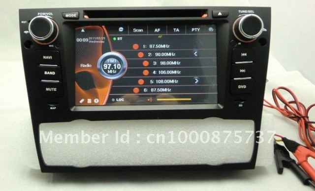 free shipping car DVD GPS navigation for BMW E90  7'Touch Screen bluetooth  can-bus