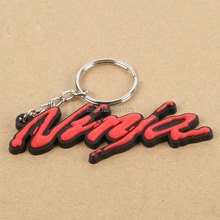 Rubber Motorbike Cool Keyring Keychain Key Chain For Red Kawasaki Ninja New(China (Mainland))
