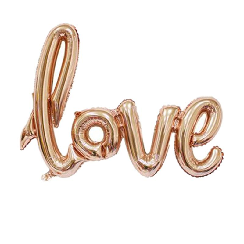 New Design Connected LOVE Inflatable Helium Foil Balloon Gold Red Wedding For Party Decoration Free Shipping(China (Mainland))