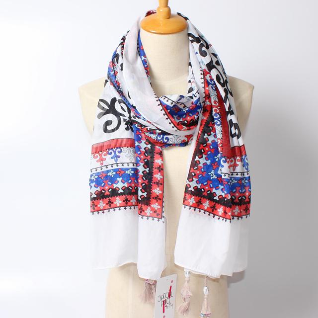 2016 новое поступление зима мода женщин бренд дизайн евро и америка улица богемы стиль цветок печатных шарф большой размер шали