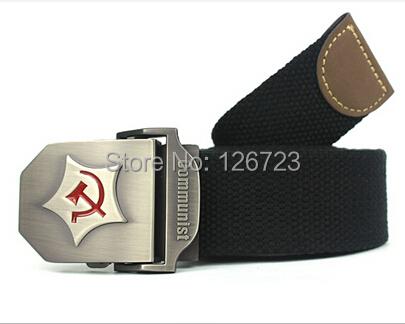 2015 New Men Belt Thicken Canvas Communist Military Army Tactical Strap 110 130 cm 12 Colors - BLUELEMON store