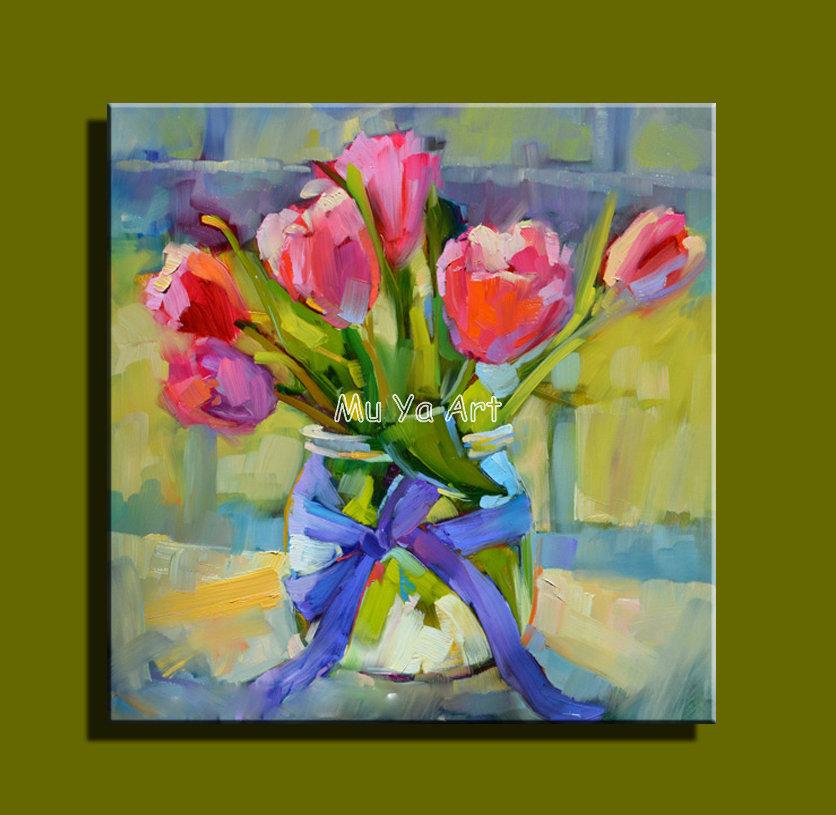 Achetez en gros tulipe peinture en ligne des grossistes for Toile pour mur de chambre