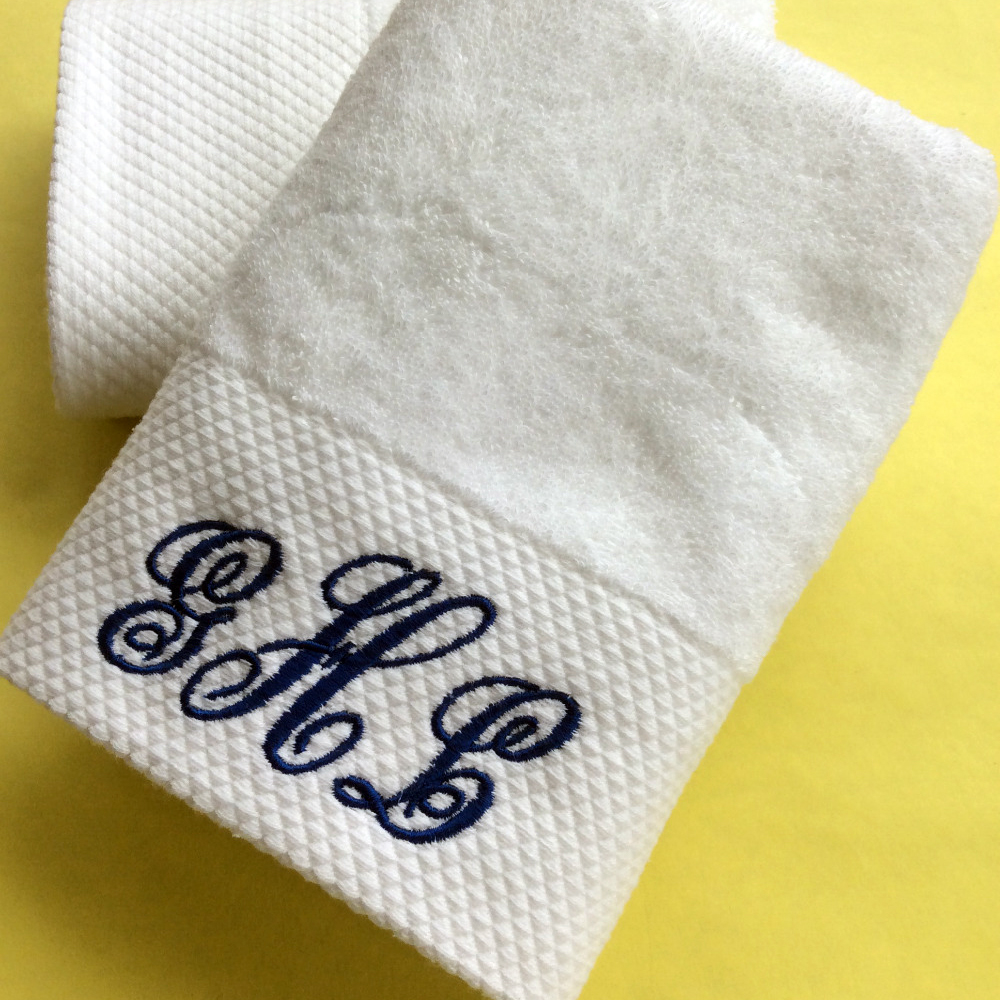 80 * 160cm bath towel Customized Cotton Hand Towel 100% Cotton Embroidery Name Personalized Towel Gift for Friends Family(China (Mainland))