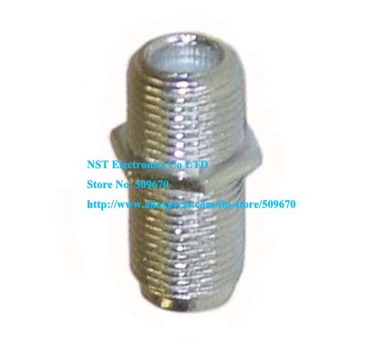 Free Shipping /10pcs/ F Type Female to Female Coaxial RG6 Barrel Coax Cable Connector Coupler RG6 F81 3GHz Adapter(China (Mainland))