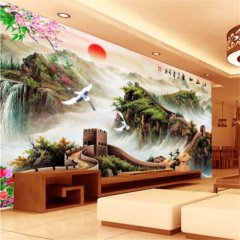 NeedleworkDIY Chinese Landscape dramatically Cross stitch