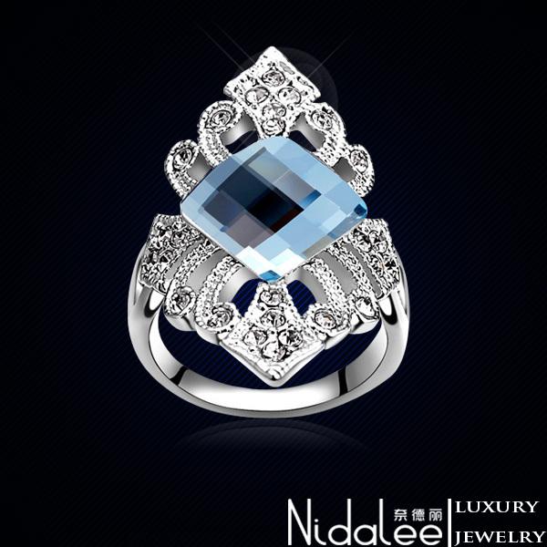 Кольцо Nidalee Jewelry Swarovski 18K CR-210 кольцо zhouyang jewelry r239 18k zyr239