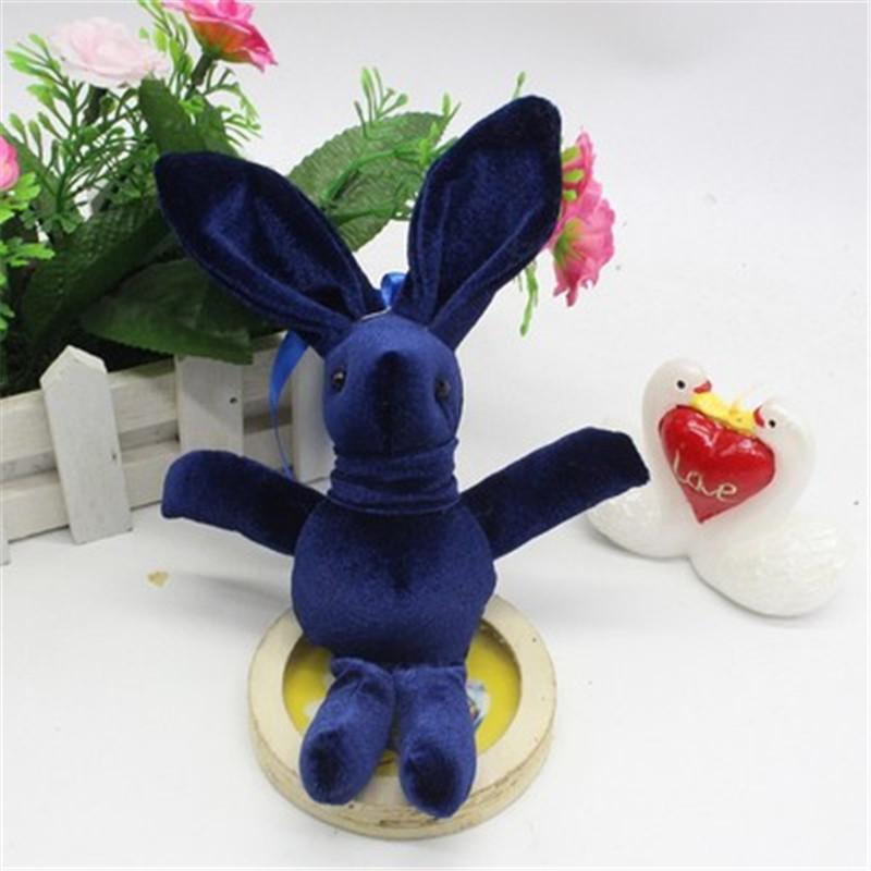 2017 New Special Rabbit Bunny Plush Toy Bag Phone Rabbits Dolls Pendants DIY Wishing Flower Bouquet Materials 15cm 10pcs (4)