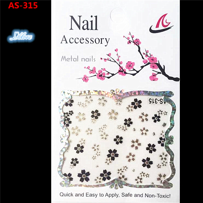 1 a black and white nail stickers Decorative pattern design adornment art nail accessories Women beautiful nail tools AS - 315(China (Mainland))