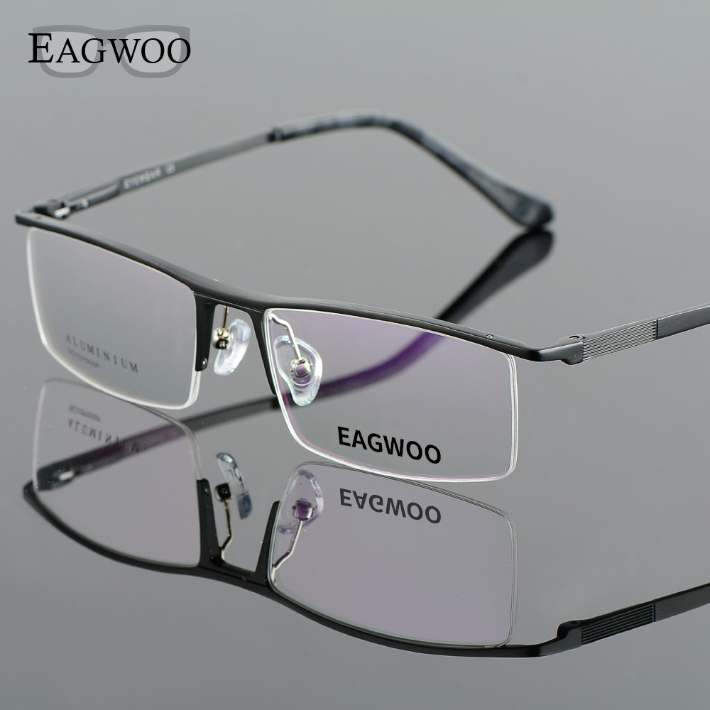 Aluminum Alloy Half Rim Optical Frame Prescription Men ...