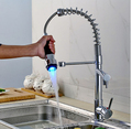 New Pull Down Spray Chrome Kitchen Sink Faucet Single Handle One Hole Mixer Tap