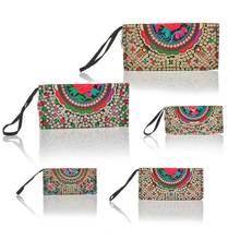 Ladies Desinger Purse Handbag National Style Money Tree Flower Embroidered Multicolor 25 5x12 5x2 5cm Random