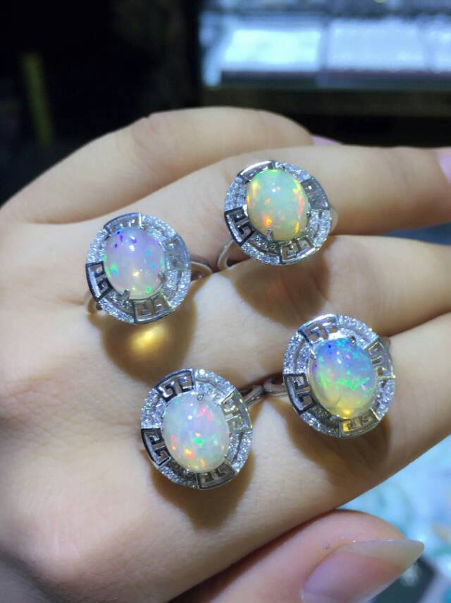 Classic hollow unique big 925 sterling silver  luxurious natural opal ring natural gem stone ring for women girl fine jewelry<br><br>Aliexpress