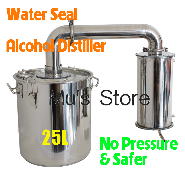 New Arrival Household Water Seal Home Wine Brewing Device 25L Alcohol Distiller/Distillation English Manual+Video(China (Mainland))
