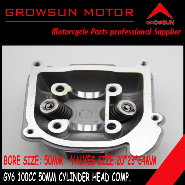 100cc 50mm GY6 Moped Scooter moped ATV engine Cylinder Head comp with 20 23 64mm Valves