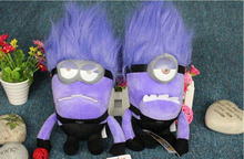 23 cm Despicable ME 2 Minions Purple Evil 2 eyes Plush Doll Toy Brinquedos Minions Pelucia Gifts for Kids(China (Mainland))