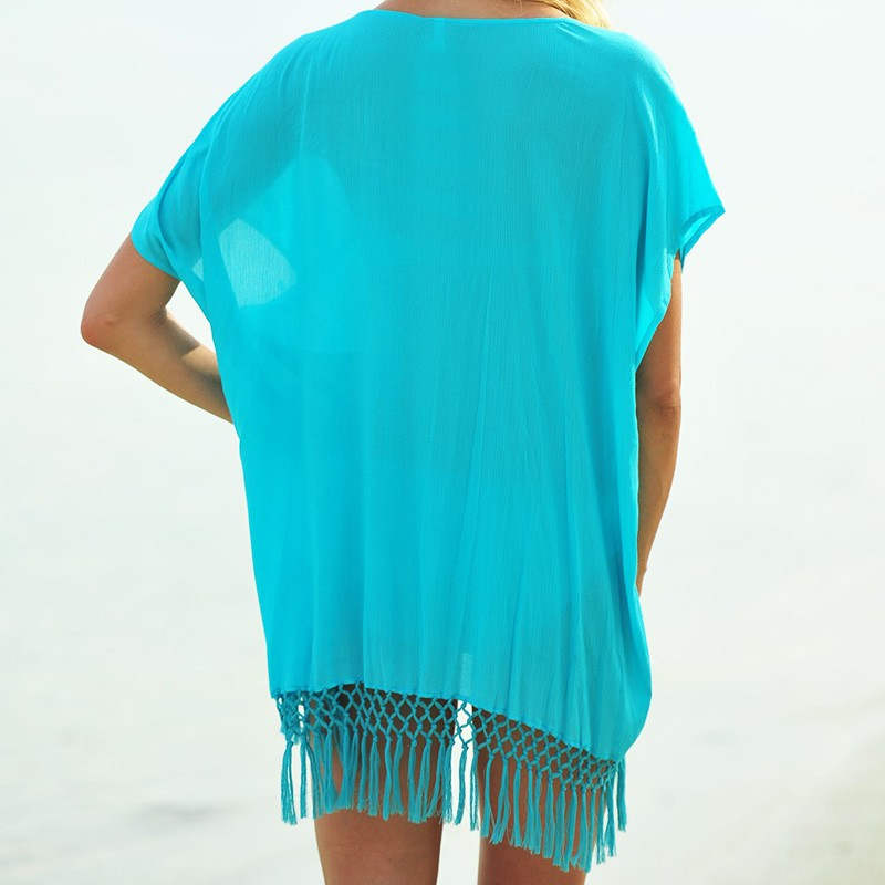 Women Summer Beach Sexy Cape tunic Swimwear Dress Sleeveless Pareo Beach Cover Up Bathing Suit Cover Ups V-Neck Clothing Dresses
