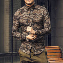 Buy Casual men shirt Camouflage 2017 Autumn Men Long Sleeve cotton dress Shirt military homme luxury camisa social masculina Slim for $21.30 in AliExpress store