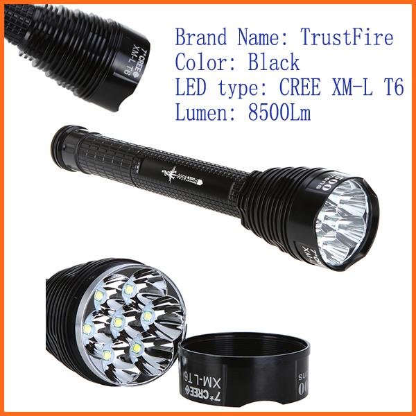 LED Flashlight 5-Mode 7*CREE T6 8500LM TrustFire Flash light CREE XM-L T6 linterna antorcha(China (Mainland))