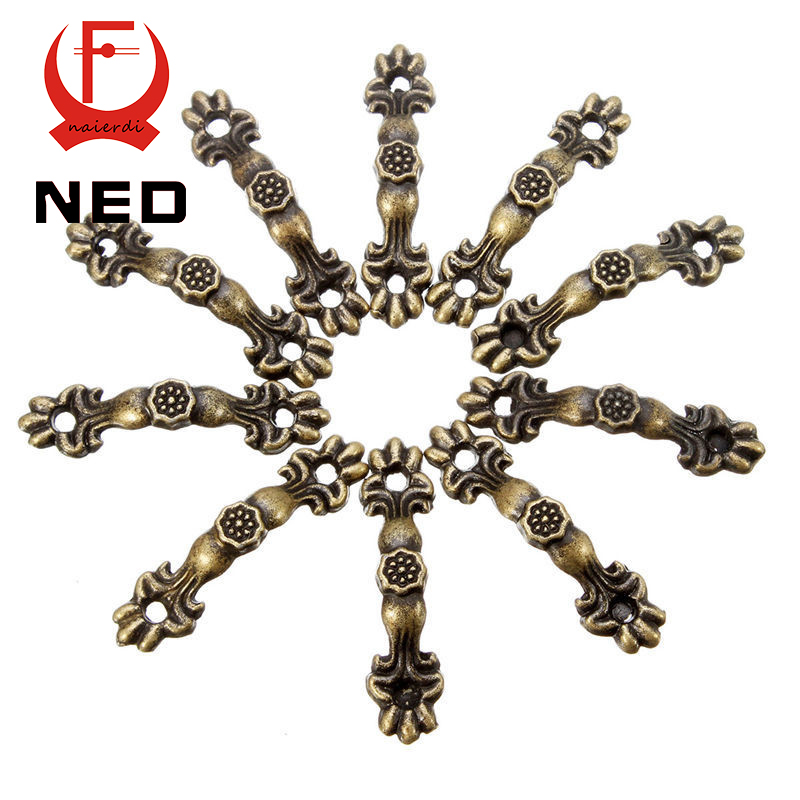 10pcs 43*10MM Box Handle Zinc Alloy Knobs Arch Tracery Bronze Tone For Drawer Wooden Jewelry Box Furniture Hardware(China (Mainland))