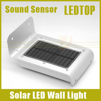 1 x New Arrival Solar Power 16 SMD LED Sound / Ray Sensor Garden Security Light Outdoor Waterproof Wall Lamp