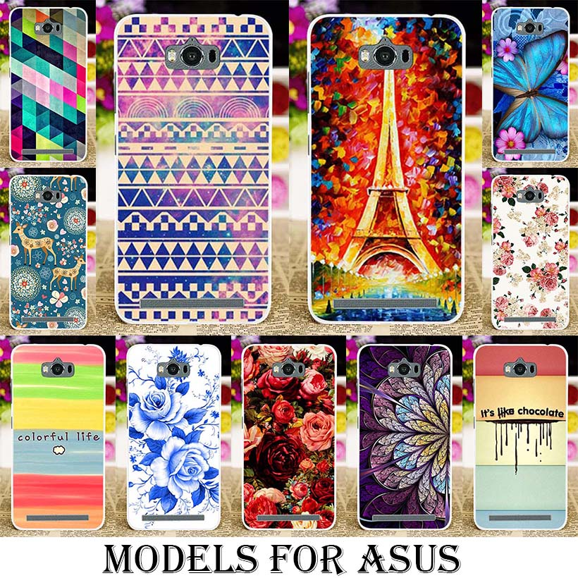 Silicone TPU Plastic Mobile Phone Cases For ASUS Zenfone GO MAX Z010D ZC550KL Z010DA X014D ZB452KG ZC451TG ZC500TG Z00SD Flower(China (Mainland))