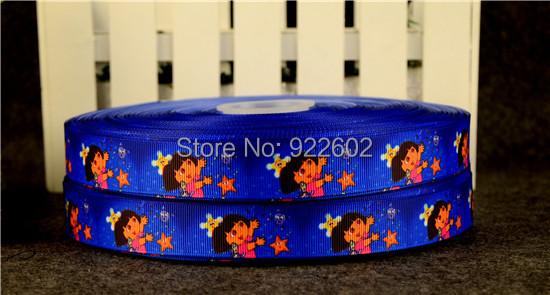 """7 / 8 """"22mm Dora Characters Printed Grosgrain Ribbon 10 Yard Free Shipping 6(China (Mainland))"""