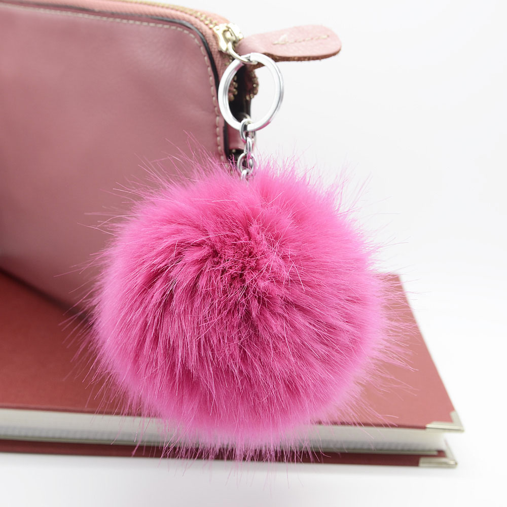 10cm Faux rabbit Fox fur ball pompom keychain fluffy high quality monchichi sleutelhanger key ring chain key cover(China (Mainland))