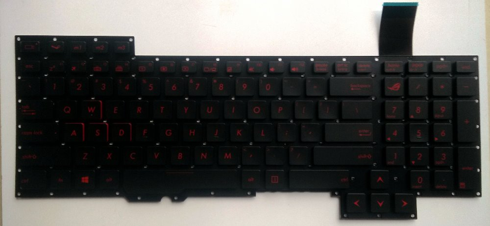 New laptop keyboard US replacement keyboard for ASUS G751 G751JM G751JT G751JY for ASUS Republic Gamers /ROG Notebook keyboard