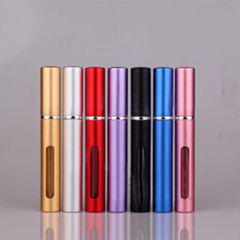 1 Pcs 5ml New Mini Portable Refillable Perfume Atomizer Colorful Spray Perfume Bottle Empty Perfume Bottle(China (Mainland))