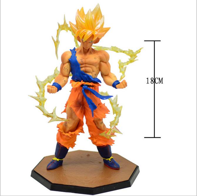 Free Shipping! New Dragon ball z figure bandai Super Saiyan Goku PVC Action Figure Model Collection Toy Gift vegeta dragonball z(China (Mainland))