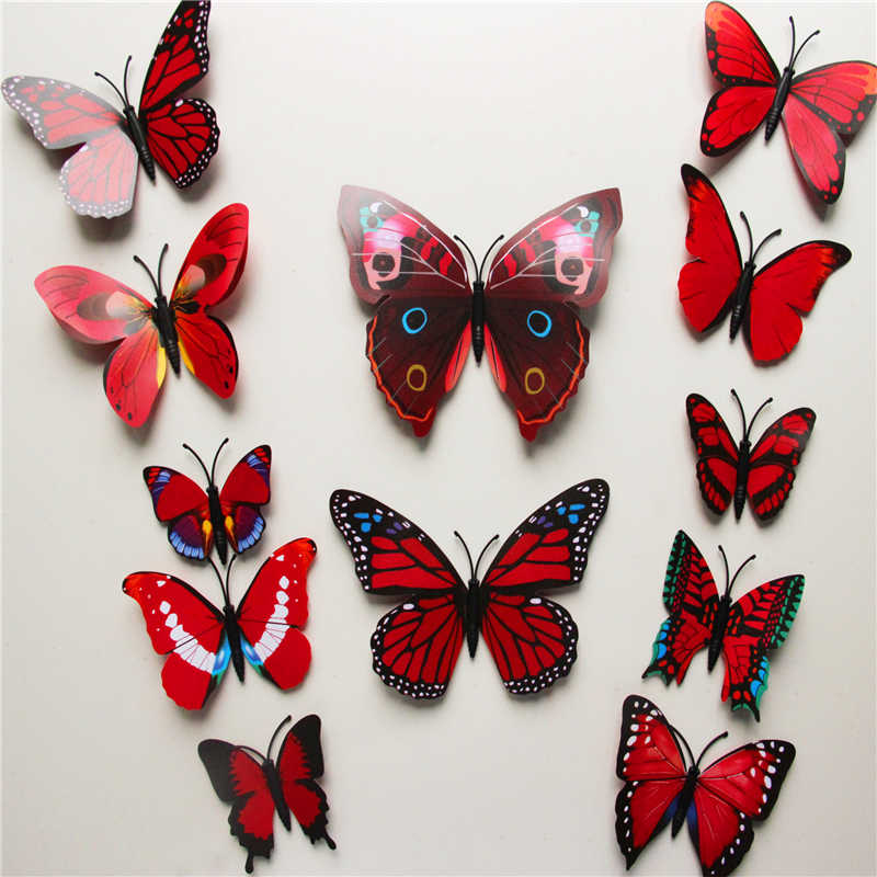 3d pvc butterfly wall stickers home decor butterfly 3d pvc butterfly wall stickers home decor butterfly
