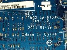 NEW !!! Free Shipping  Mainboard  laptop motherboard  PIWG2 LA-6753P REV :1.0 For Lenovo G570  Notebook(China (Mainland))