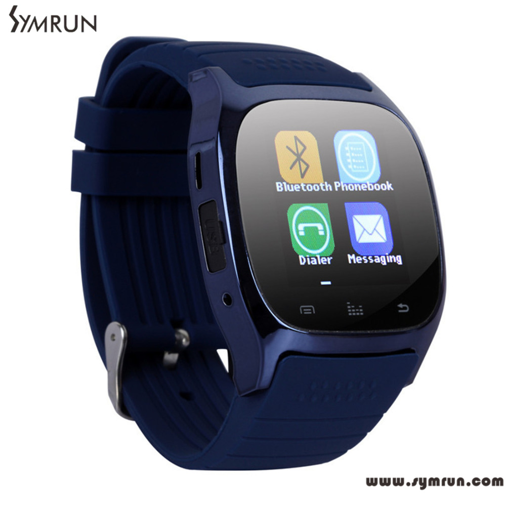 Symrun New Arrival M26 Bluetooth Smart Wrist Watch Phone For Ios Android Phones Free Shipping Smart Watch Women(China (Mainland))