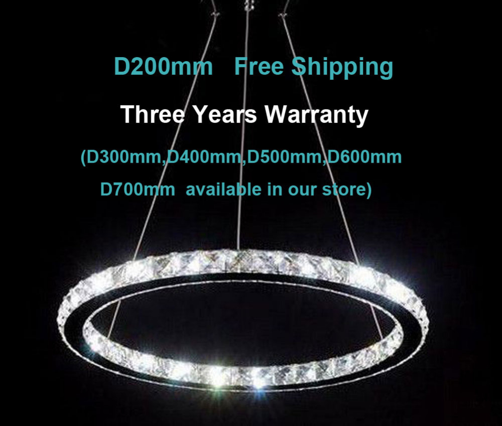 CE Listed Modern LED crystal chandelier Island Ceiling Pendant Light Living Room D200mm Ring Fixture - Ecopower Technology (GuangZhou storeCO.,Ltd)